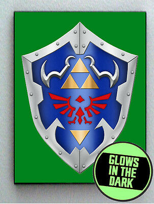Legend Of Zelda Link Hylian Shield Glow In The Dark Framed Cool Art Mini Poster