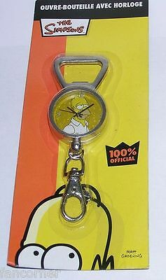 Simpsons Décapsuleur montre porte clefs Homer Officiel Homer bottle opener clock