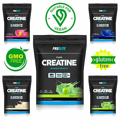 Pro Elite Pure Creatine Monohydrate Micronised Powder  500g / 1Kg Muscle Gain