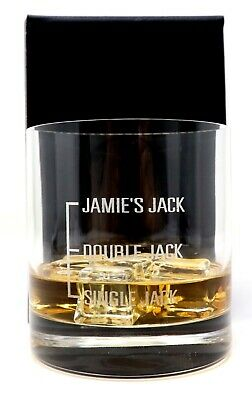 Engraved 'DAD'S JACK/SINGLE' Daniels Bubble Based Glass Gift For Christmas
