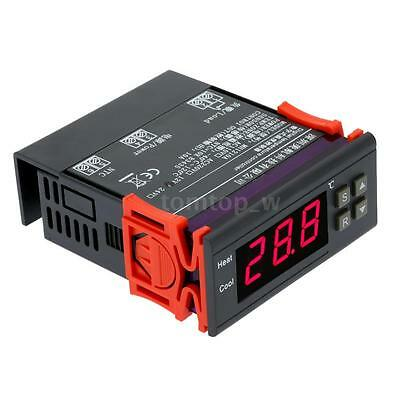 Digital Temperature Controller Thermostat 12V 10A Switch -40℃~120℃ Sensor W_US