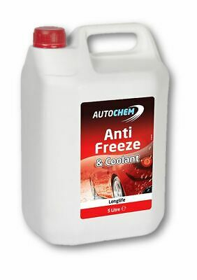 Autochem Red Longlife Antifreeze Coolant Concentrated 5L