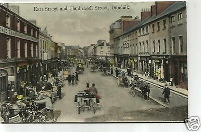 irish postcard ireland louth earl street dundalk