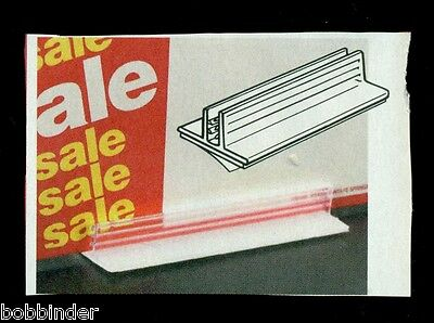 Price Tag & Sign Gripper Self Stick To Wood, Metal, Glass Flat & Vert Box Of 10