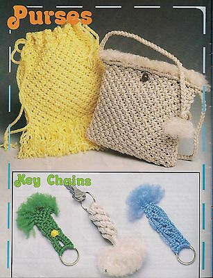 Purse & Key Chain Patterns - Craft Book: #15915 Macrame for Ages 8 and Up Vol. 3