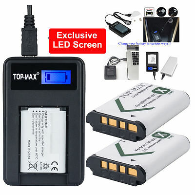 2x Battery + USB Charger NP-BX1 for Sony NP-BX1 RX1 RX1R RX100 Ⅱ DSC-WX300