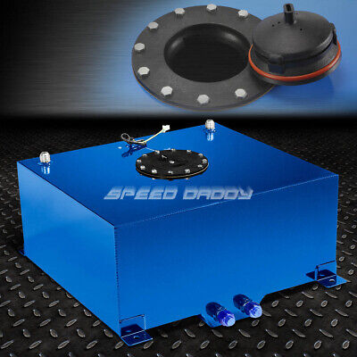 15 Gallon Blue Coated Aluminum Racing/drifting Fuel Cell Gas Tank+Level Sender