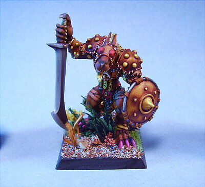 Confrontation painted miniature  Wolfen Devourer with Sword and Shield