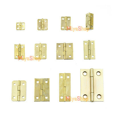10/50/100pcs Metal Cabinet Drawer Door Butt Hinge with Screws Music Wooden Box