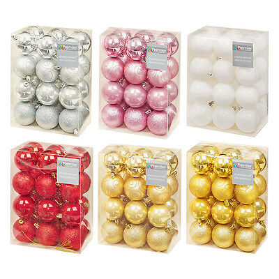 BOXES OF CHRISTMAS TREE BAUBLES - ASSORTED FINISH 60mm