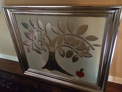 LG Greg Copeland Reverse Painted Tree of Life Wall Art Mid Century Modern Signed