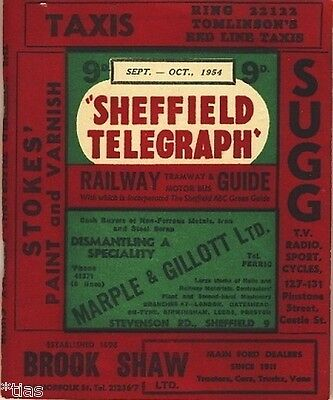 Sheffield Telegraph Railway Tramway and Motor Omnibus Guide 1954 England
