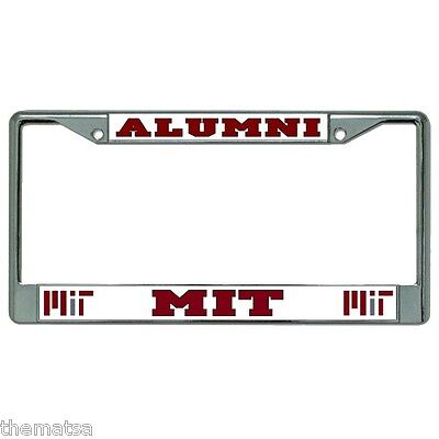 Mit University Alumni Chrome Metal Usa Made License Plate Frame