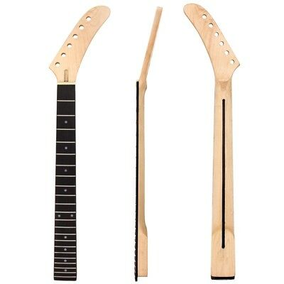 Banana Maple Rosewood Guitar Neck Dot Inlay 22 Frets For Guitar Replacement