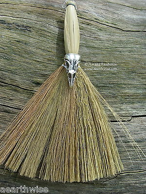 BESOM BROOM & BIRD SKULL 170 mm Wicca Pagan Witch Goth WITCHES' ALTAR BROOM