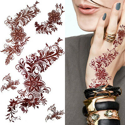 1Sheet India Painting Henna 3D Waterproof Paper Temporary Body Art Decals Tattoo