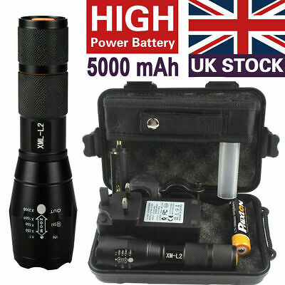 20000lm Genuine Shadowhawk X800 Flashlight XML L2 Zoom Military Tactical Torch