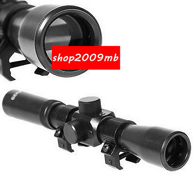 New Hunting For Rifle 4X20 Optic Sniper Scope Reticle Sight 20mm Ral Mount