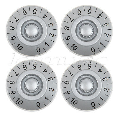 4pcs Speed Control Knobs for Les Paul Guitar Control Knob Silver