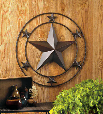 Rusty vintage country western 2' Star Large METAL Wall art garden outdoor Plaque
