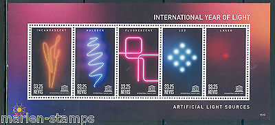 Nevis  2015  International Year Of Light Sheet Mint Nh