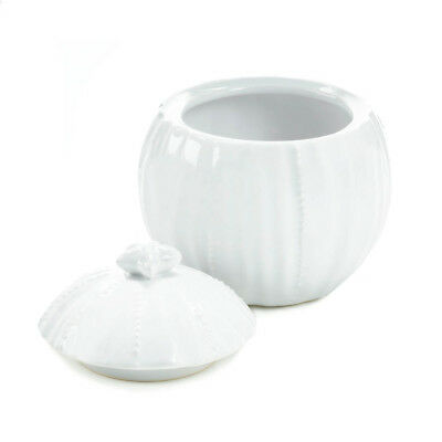 Jar Pot Bowl Vase White Starfish Ceramic Container With Lid Pottery New Kitchen