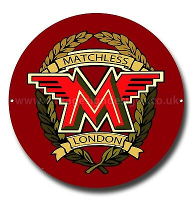 "Matchless Motorcycles 11"" Round Metal Sign,vintage Motorcycle,classic Motorcycle"