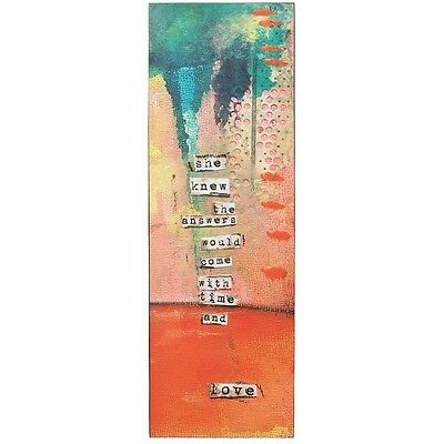 Kelly Rae Roberts *time And Love Wall Art* Brand New Boxed 18085 Rrp: £25!