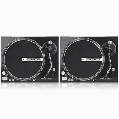 PAIR of Reloop RP-2000M Professional Direct Drive DJ Turntables 33 45 RPM