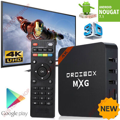 2017 MXG 4K Quad Core Android 7.1 TV Box 4K 17.4 Ultra HD Media Player Streamer