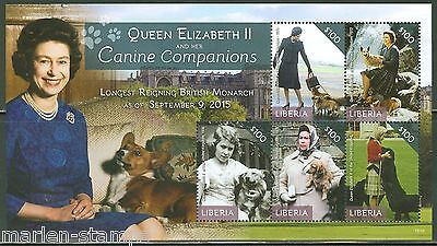 Liberia  2015 Queen Elizabeth The Longest Reigning British  Monarch Sht  Mint Nh