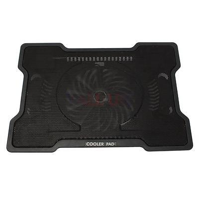 "17"" Laptop One Big Fan USB Notebook PC Adjustable Stand Cooling Cooler Pad UK"