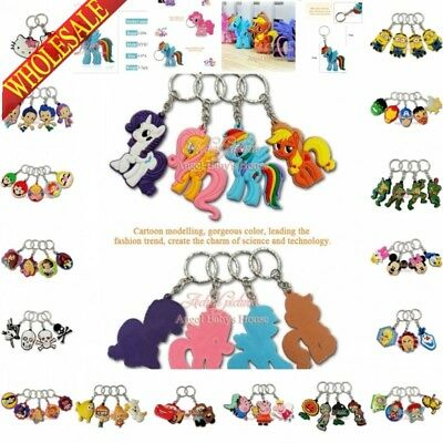 500PCS  Ponys MC PVC Keyrings Keychains mobile phone Charms kids gifts