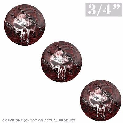 "3 Pack Gel Top Domed Glossy 3//4/"" 3M Premium Decal Stickers 44 MAG REVOLVER"