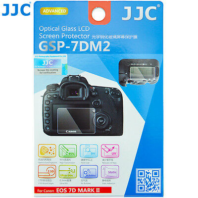 JJC 0.3mm Optical Tempered Glass LCD Screen Protector for Canon EOS 7DM2 Mark II