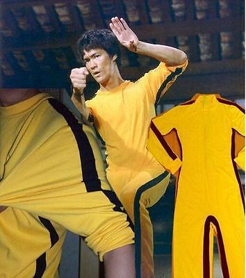 Bruce Lee Classic Game Of Death Costume Kung Fu Yellow Jumpsuit Uniform sizes