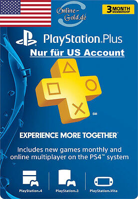PlayStation 3 Monate/Month (90 Tage) Membership PSN Live Network Card - US Store