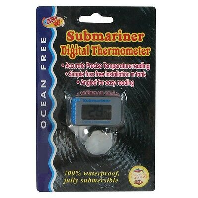 UK Digital LCD Mini Waterproof Fish Tank Water Submersible Aquarium Thermometer