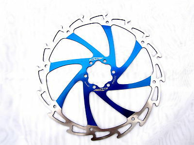 Alligator Windcutter BLUE Mountain Bike Disc Brake Rotor 180mm - strong + bolts