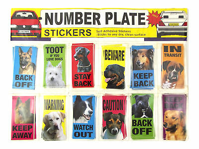 Number Plate Dog Stickers Various Breeds Available