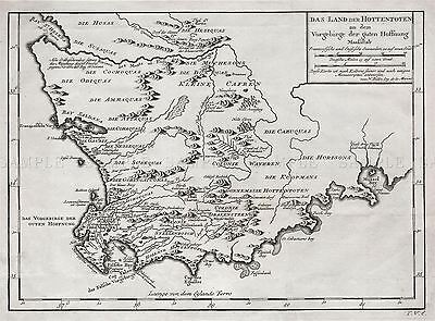 Map Antique 1757 Bellin Hottentot South Africa Large Repro Poster Print Pam0213