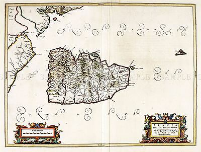 Map Antique Blaeu Scotland 1654 Isle Arran Old Large Repro Poster Print Pam0601