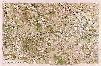 Map Antique Cassini France 18Th Century Bearn Soule Replica Poster Print Pam0755