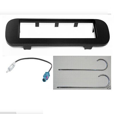 Mascherina kit supporto radio autoradio 1 DIN (ISO) FIAT Panda da 2012 Dark Gray