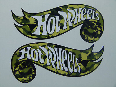 "2x Oldschool Sticker ""Hotwheels Army"" Retro Vintage Aufkleber Biker Rockabilly"