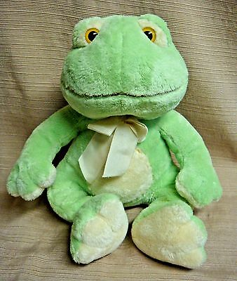 "SUPER SOFT Pale Green & Yellow PLUSH FROG ""Paddles"" by RUSS BABY"
