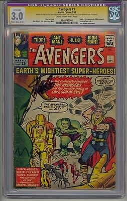 Avengers #1 Cgc 3.0 Ss Stan Lee Signed