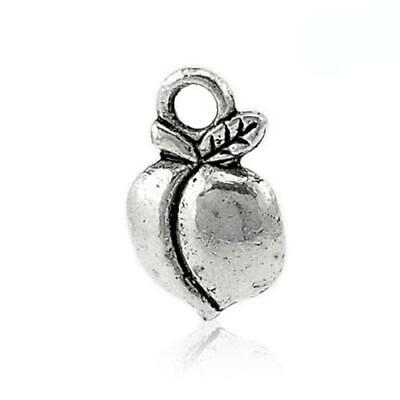 ZX00425 Packet of 30 x Antique Silver Tibetan 14mm Charms Pendants Handcuffs - - Charming Beads