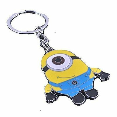 """Despicable Me """"Minion"""" on a Silver Plated Key Chain"""