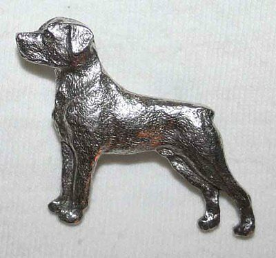ROTTWEILER Dog Harris Fine PEWTER PIN Jewelry Art USA Made